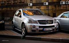 Serious ML (Ni.St|Photography) Tags: silver mercedes offroad fast exotic german belgrade amg refflection ml63