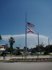 Remember 9/11 (JojosAwesomeWorld) Tags: usa beach remember florida flag 911 jojosawesomeworld