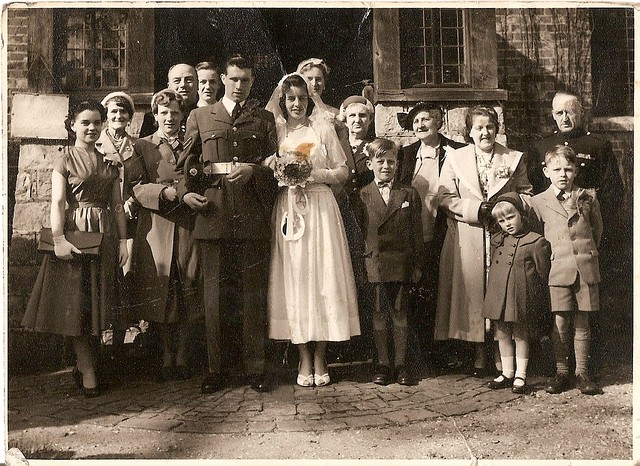 Wedding picture including the Williams.