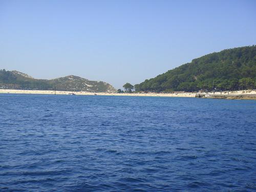 Playa de Rodas vista desde el mar