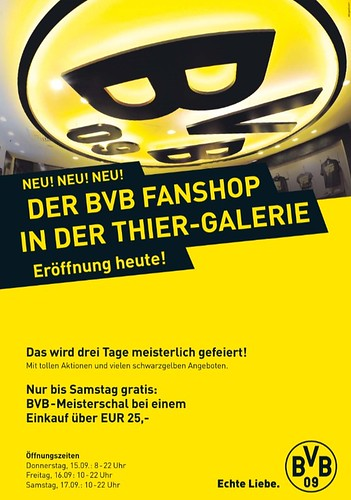 BVB Fanshop in der Thier-Galerie
