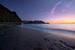 Beachside in dusk (-TommyTsutsui- [nextBlessing]) Tags: longexposure blue light sunset red sea seascape beach nature japan landscape coast nikon waves purple dusk tide scenic shore     hdr izu sandybeach    nishiizu sigma1020   onsalegettyimages