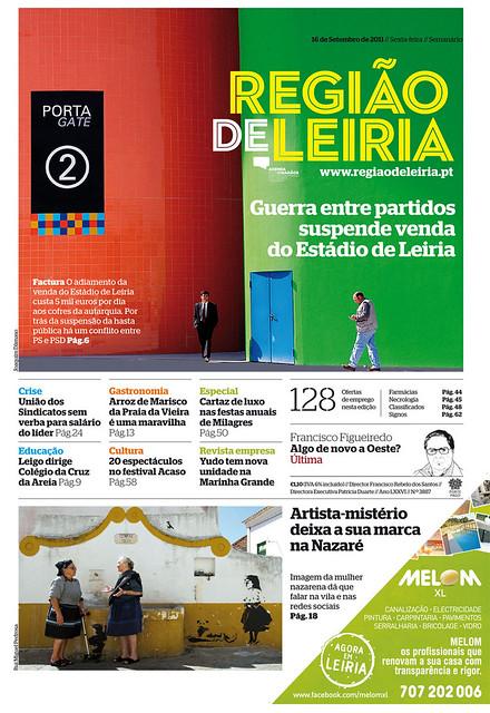 Capa do Região de Leiria da edição 3887 de 16 de Setembro 2011