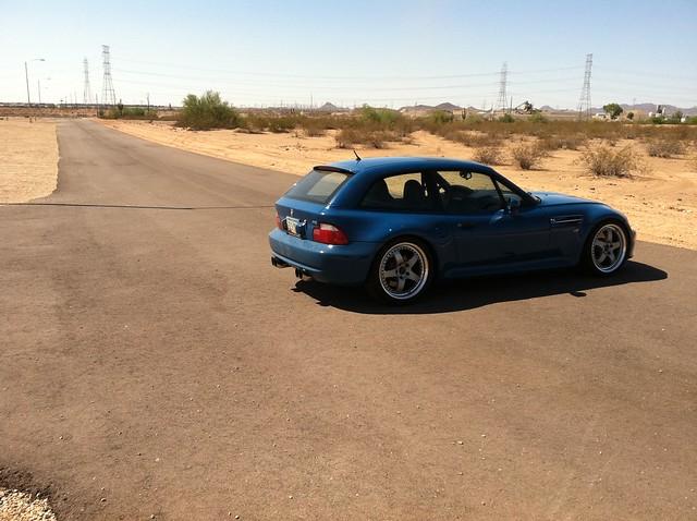 2002 M Coupe | Laguna Seca Blue | Black | Kinesis K58 18