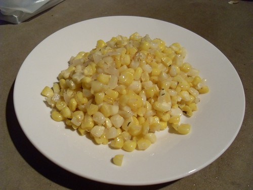 Caramelized Corn with Shallots