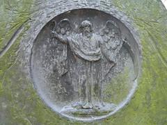 P1030043 Leicester Churchyard. St Margaret (speccy_beardy) Tags: headstone gravestone churchyard hook fathertime scythe swithlandslate