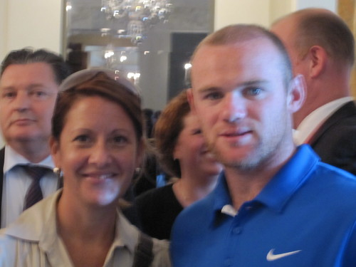 Elizabeth Fischer and Wayne Rooney