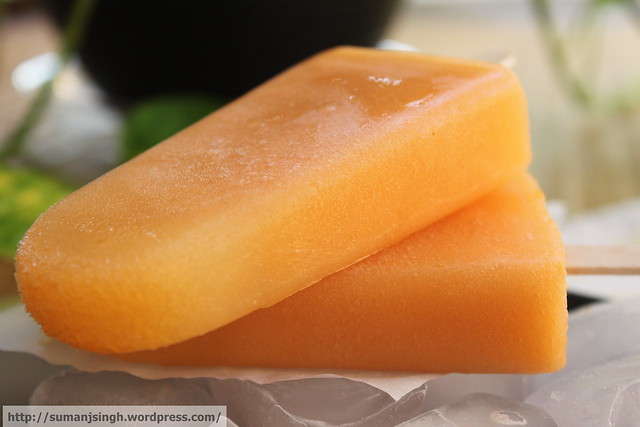 Cantaloupe Pops