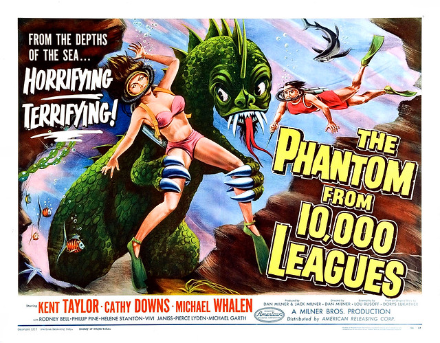 Albert Kallis - The Phantom from 10,000 Leagues (American Releasing Corp., 1955) Half Sheet