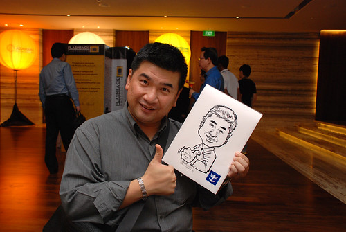 caricature live sketching for Royal Caribbean International Dinner and Dance 2011 - 1