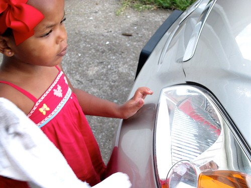 she suddenly decided that it was imperative that she wash the car