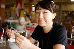 At a cafe at Lake Toya, Hokkaido, Japan