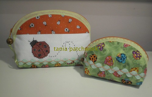 Conjunto necessaires Joaninha by tania patchwork