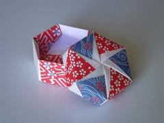 Hexagonal Box (Retsnimel) Tags: paper origami box washi chiyogami tomokofuse origamiboxes finepixs4000