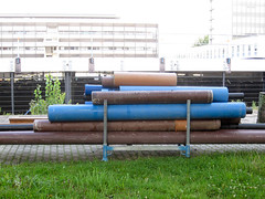 Pipes - lines (Frodas) Tags: pipes baustelle karlsruhe rohre 2011
