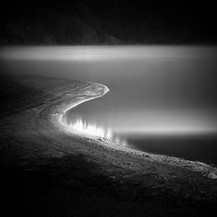 Curvature (Hengki Koentjoro) Tags: water lines lights smooth dream shapes surreal surface caldera shore ethereal curve sulfur banks