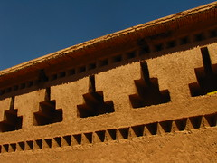 Wall (Sunanda Chandry Koning) Tags: africa travel pink blue sky orange holiday color wall architecture canon photography photo northafrica african decoration picture salmon powershot arabic morocco adobe marrakech 2009 moroccan 2010 canonpowershot marrakchi sx100 canonpowershotsx100 february2009 september2010 feb2009 sx120 canonpowershotsx120 sept2010