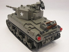 "M4A1 Sherman- Tank Overhaul (""Rumrunner"") Tags: world 2 army war tank lego wwii ii american ww2 ww division armored 3rd sherman worldwar2 allies m4a1 brickarms brickmania"