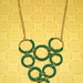 Macrame Hoop Bib Necklace - Emerald