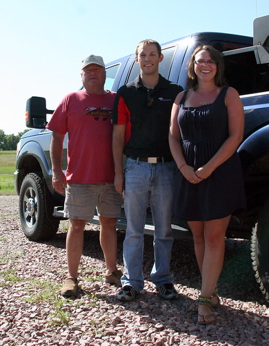 Dad and I snap a photo with Matt from Dupont before he leaves.