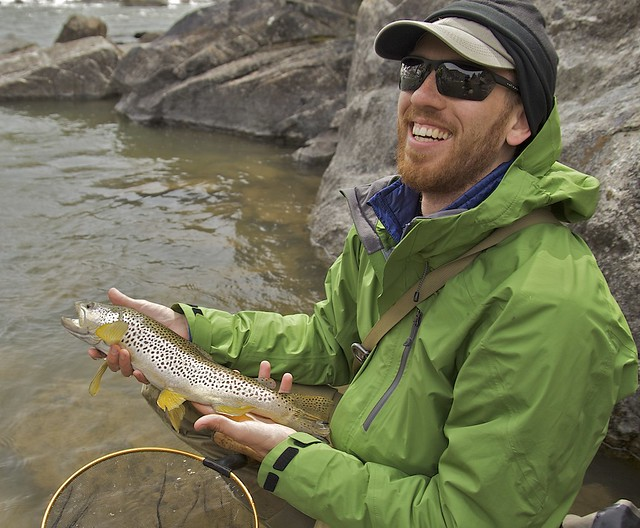 Daniel Galhardo with another big Madison River brown caught on the same trip to Bear Trap Canyon