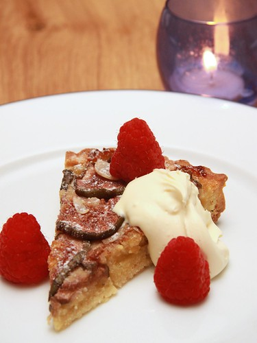 homemade fig tart, clotted cream