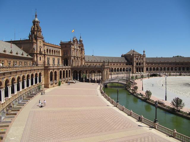 Plaza de Espana Seville side view
