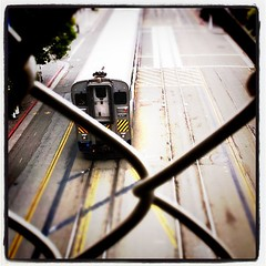 Train thru chain-link
