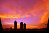233/365: Sunday, August 21, 2011: Silo Sunset Silhouettes