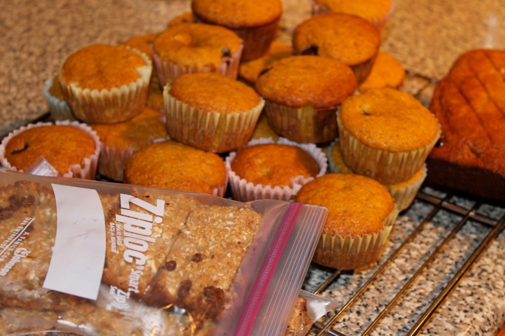 Pumpkin muffins, granola bars and cookies, oh my!