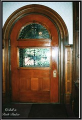 Governor Asa S. Bushnell Mansion ~ Springfield OH ~ Massive Door (Onasill ~ Bill Badzo) Tags: county door light ohio house castle film home glass stain stone architecture 40th us memorial entrance landmark s structure international funeral governor clark use scanned and oh springfield mansion asa dunbar romanesque fixture richards registry harvester attraction bushnell navistar raff richardsonian nrhp dwwg readaptive onasill