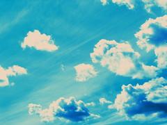 Sometimes she runs with clouds.... (Marcia Portess-Thanks for a million+ views.) Tags: blue sky azul clouds skyscape heaven bleu cielo nubes bigsky sweepingskies marciaportess sometimessherunswithclouds