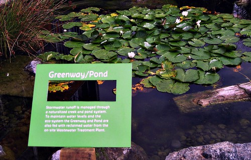 educational signage at a water feature (c2011 FK Benfield)
