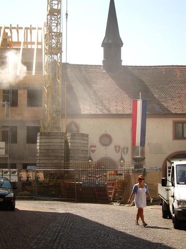 construction in waldshut tiengen german town by Danalynn C