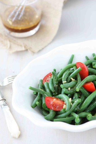 Green Bean & Tomato Salad with Lime & Sesame Dressing Recipe