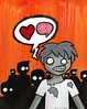 Zombie <3 brains
