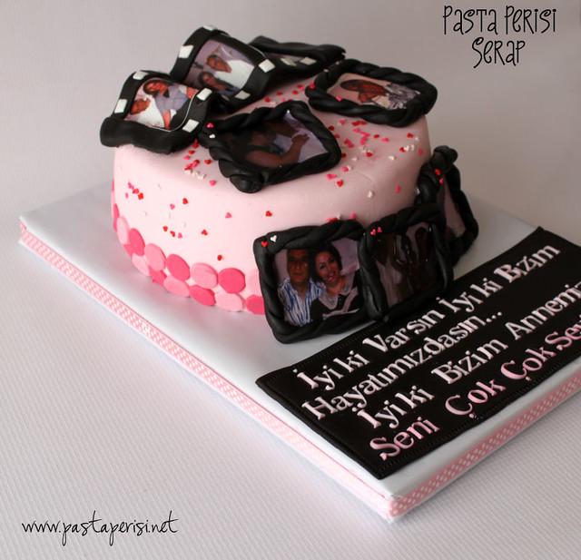 Film şeritli-resimli pasta