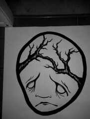 Poster progress with Claire Louise (Blomtrog) Tags: street pasteup art claire louise blom blomtrog