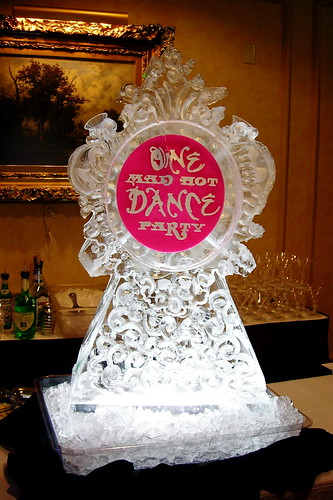 Ballet event ice sculpture
