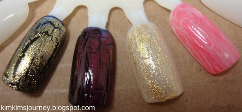 OPI Gold and Pink Shatter