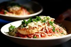 Chicken Parmesan (WeeLittlePiggy) Tags: food chicken dinner pasta