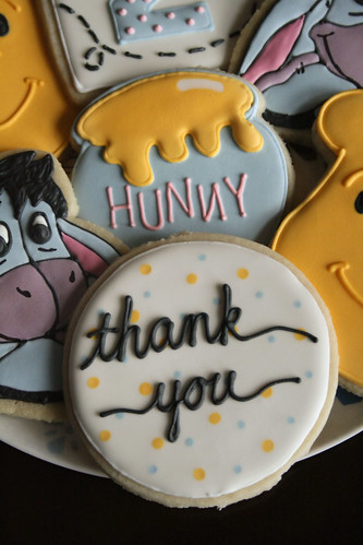 Coordinating Thank-You cookie.