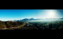 Santiago from above (II) (Etman Parkes) Tags: chile from above santiago panorama snow de la san nieve cerro after zuiko cristobal despus evolt e420 cordilleradelosandes cs5 oiympus 1442mm