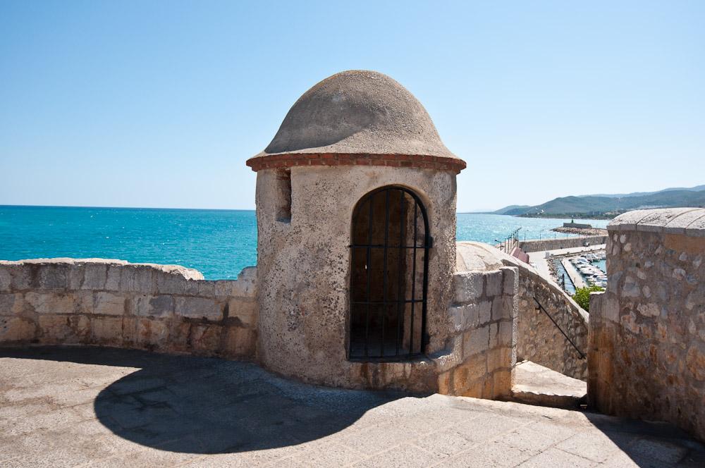 Almenaras sobre las murallas de Antigua