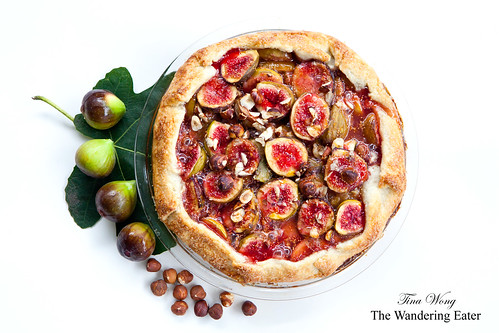 Homemade fig hazelnut crostata