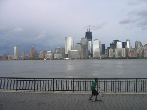 Lower Manhattan, from Jersey City