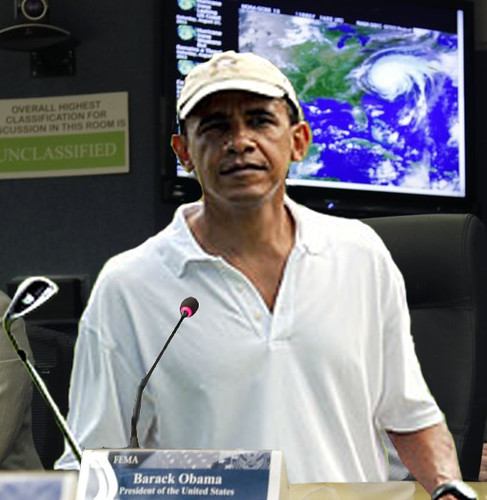 Obama Take Charge At Hurricane Command Center