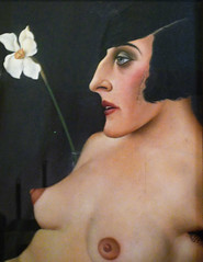 Christian Schad, Self-Portrait with detail of woman (profzucker) Tags: vienna selfportrait london weimar german alienation 1927 schad betweenthewars christianschad germanart newobjectivity neuesachlichkeit