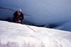 rappel the glacial crack (intheclearkid) Tags: park leica blue patagonia mountain snow ice analog hiking mount climbing national rainier mountrainiernationalpark mountaineering pacificnorthwest e6 mountaintrip m6 crevasse iceclimbing blackdiamond filmforlife mountaintripguide