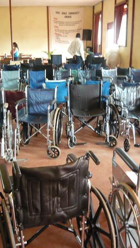 Wheelchairs in waiting